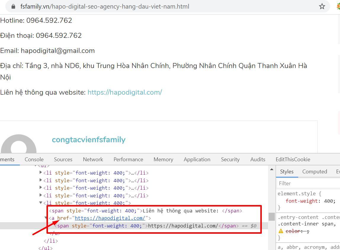 Cài đặt tool check trên trình duyệt chrome để kiểm tra out link