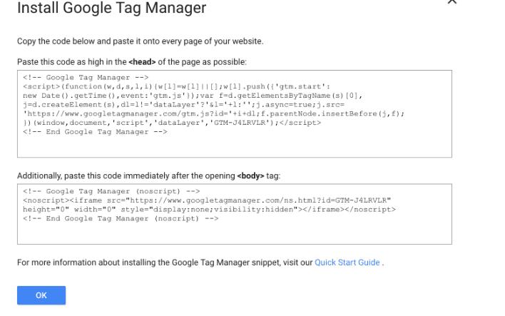 Đoạn mã Google Tag Manager