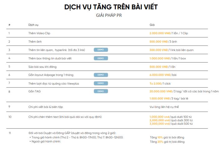 Bảng giá đăng bài Pr trên báo Afamily.vn