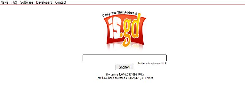 Công cụ rút ngắn URL IS.GD