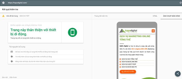 Kiểm tra trang web của bạn có thân thiện với thiết bị di động hay không?