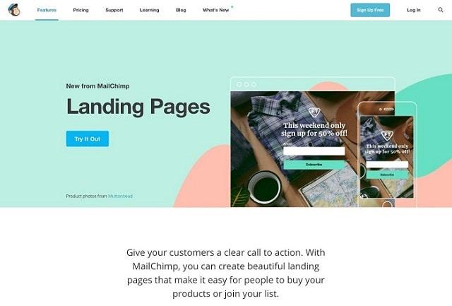 Landing Page cần ngắn gọn truyền tải được nội dung thu hút